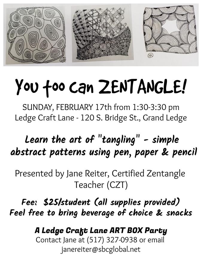 zentangle workshop flyer 1